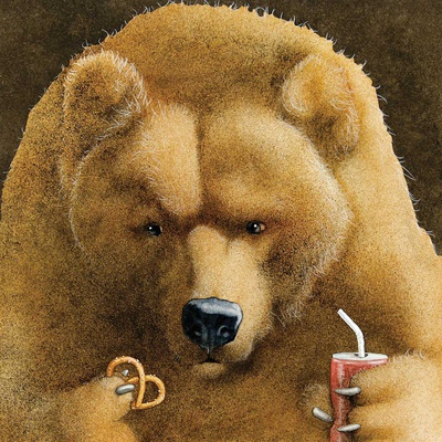 Pretzels & Soda & Bear Posters by Will Bullas