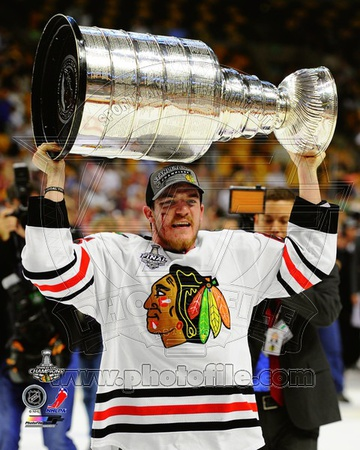 NHL Andrew Shaw with the Stanley Cup Game 6 of the 2013 Stanley Cup Finals Photo