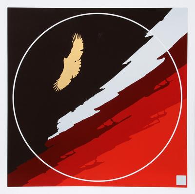 Untitled Hawk Eksklusivudgaver af Thomas Benton