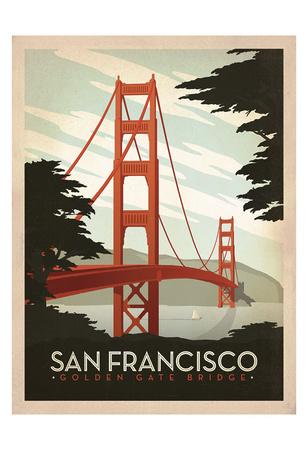 San Francisco: Golden Gate Bridge Posters by  Anderson Design Group