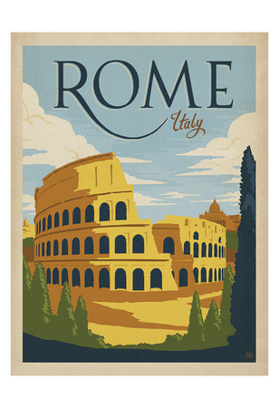 Rome, Italy Posters af  Anderson Design Group