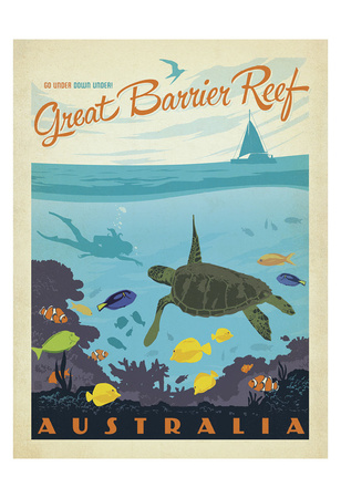 Great Barrier Reef, Australia Poster av  Anderson Design Group