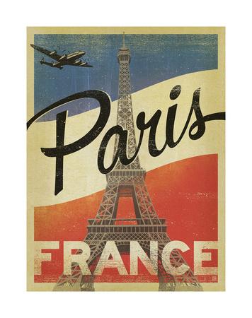 Paris, France (Flag) Prints by  Anderson Design Group
