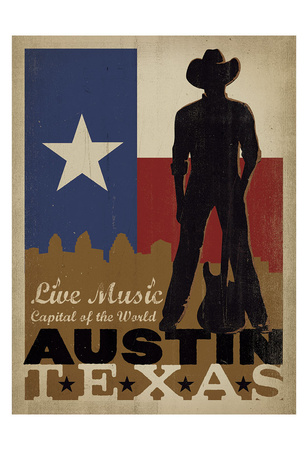 Austin, Texas: Live Music Capital Of The World Posters by  Anderson Design Group