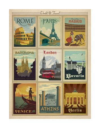 Flertryck – världsresor I Posters av  Anderson Design Group