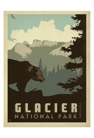 Glacier nationalpark Posters av  Anderson Design Group