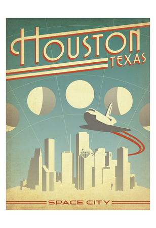 Houston, Texas: Space City Print by  Anderson Design Group