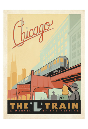 Chicago: The 'L' Train Posters by  Anderson Design Group