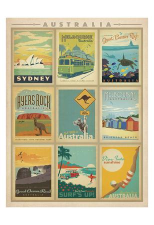 Australia Multi Print Prints by  Anderson Design Group