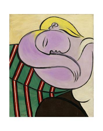 Woman with Yellow Hair (Femme aux cheveux jaunes) Affiches van Pablo Picasso