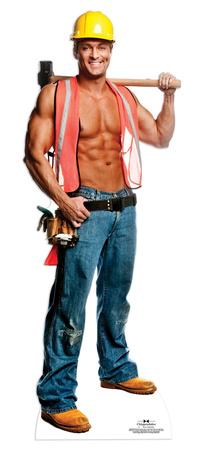 Chippendale Billy Jeffrey - Construction Worker Lifesize Standup Figura de cartón