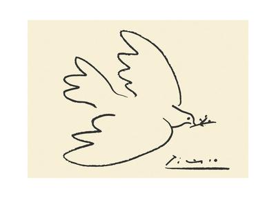 Fredsduva Planscher av Pablo Picasso