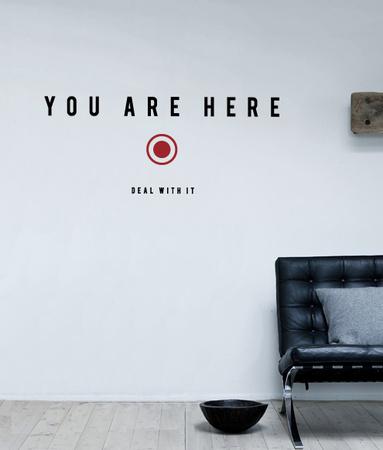 You Are Here sticker Muursticker van Antoine Tesquier Tedeschi