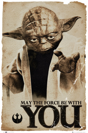 Star Wars Yoda May The Force Foto