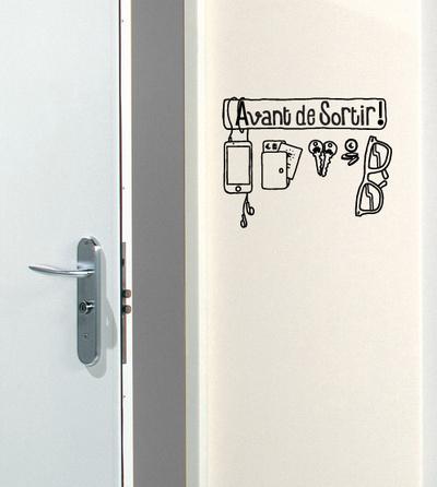 Avant De Sortir Reminder sticker Wall Decal by Antoine Tesquier Tedeschi