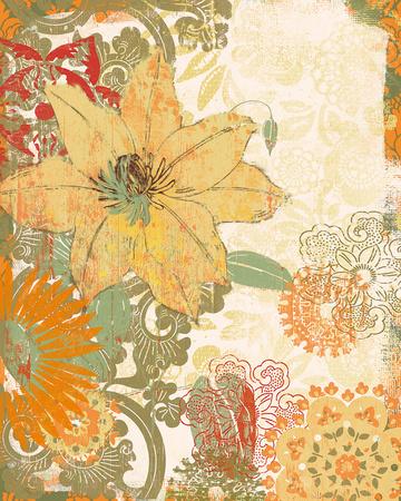 Folk Flower I Giclee Print by Ken Hurd