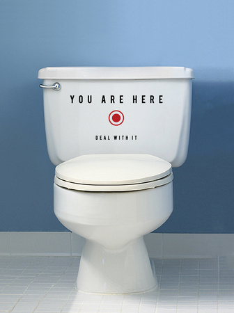 You Are Here - Small Wall Decal by Antoine Tesquier Tedeschi