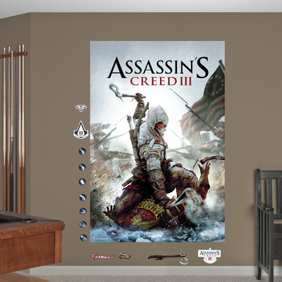 Cover Art Mural: Assassin's Creed III Wall Decal Sticker Wall Mural