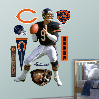 Chicago Bears Jim McMahon Wall Decal Sticker Wall Decal