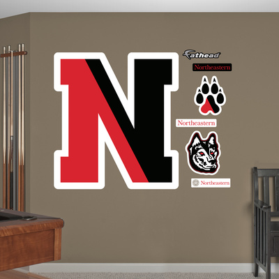NCAA Northeastern Huskies Logo Wall Decal Sticker Wall Decal