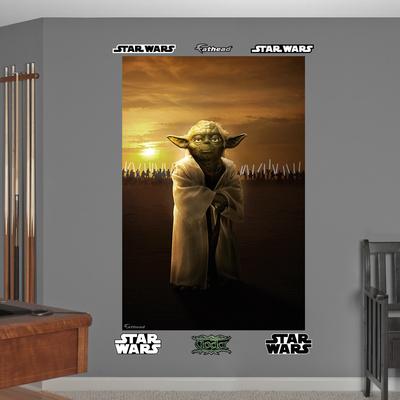 Star Wars Yoda Jedi Knights Mural Decal Sticker Wall Mural