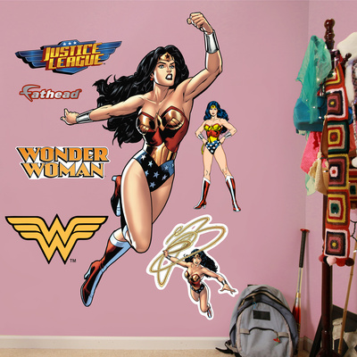 Wonder Woman in Action Wall Decal Sticker Wall Decal