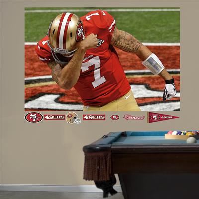 San Francisco 49ers Colin Kaepernick Super Bowl 47 Kaepernicking Mural Decal Sticker Wall Mural
