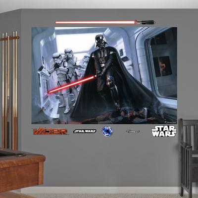 Star Wars Darth Vader Stormtroopers Fallen Rebel Mural Decal Sticker Wall Mural