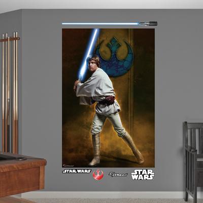 Star Wars Luke Skywalker Mural Decal Sticker Wall Mural