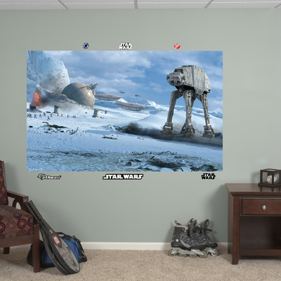 Star Wars AT-AT Battle Mural Decal Sticker Wall Mural