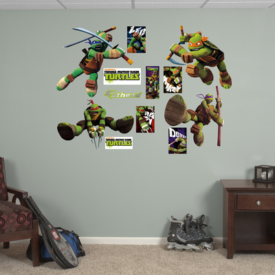Teenage Mutant Ninja Turtles Collection Wall Decal Sticker Duvar Çıkartması