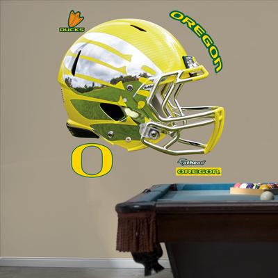 Oregon Liquid Lightning Yellow Helmet Wall Decal Sticker Wall Decal
