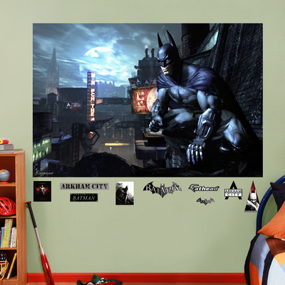 DC Comics Batman Arkham City Mural Decal Sticker Wall Decal
