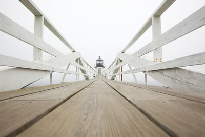Marshall Point Lighthouse in Port Clyde, Maine Fotografie-Druck von John Burcham