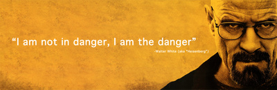 Breaking Bad I Am the Danger Television Poster Poster