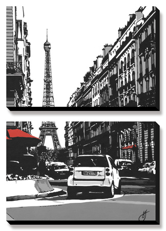 Paris II Print by Jo Fairbrother