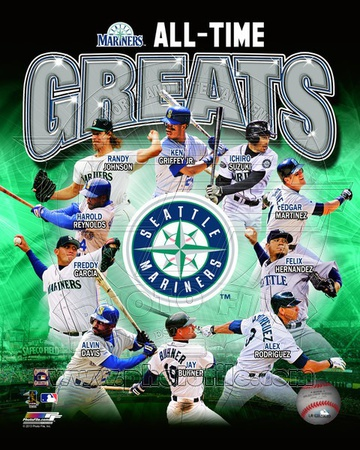 Seattle Mariners All Time Greats Composite Photo