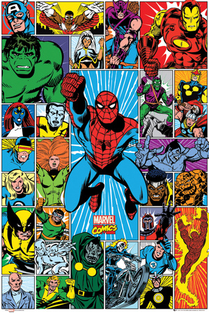 Marvel - Character Grid Pósters