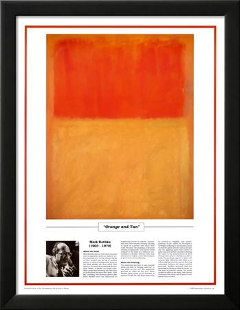 Twentieth Century Art Masterpieces -Mark Rothko - Orange and Tan Prints by Mark Rothko