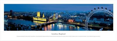 London, England (Ferris Wheel) Posters by James Blakeway