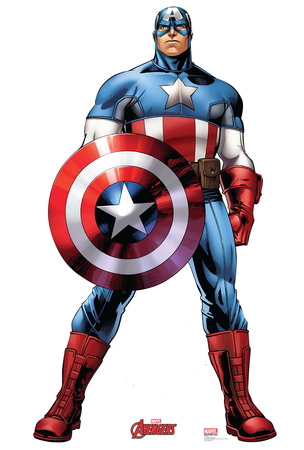 Captain America - Marvel Avengers Assemble Lifesize Standup Cardboard Cutouts