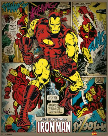 Marvel Comics (Iron Man Retro) Pósters