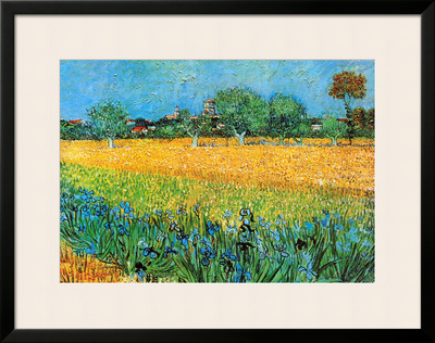View of Arles with Irises Art by Vincent van Gogh
