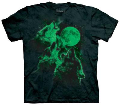 Glowing Three Wolf Moon T-shirts