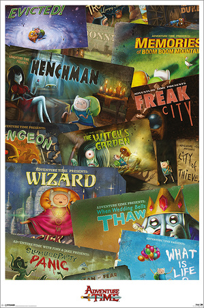 Adventure Time episodes collage poster print