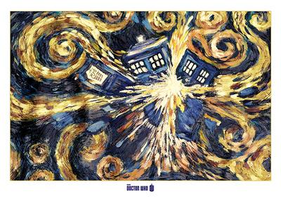 Doctor Who- Van Gogh's Exploding Tardis Print