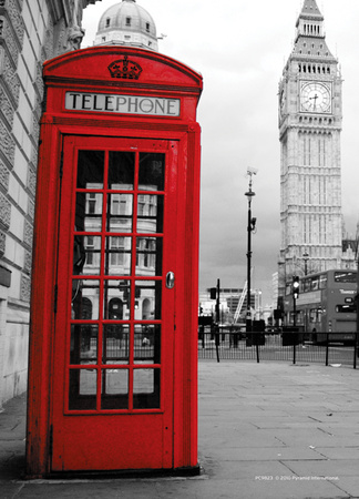 london red phonebox plakater p. Black Bedroom Furniture Sets. Home Design Ideas