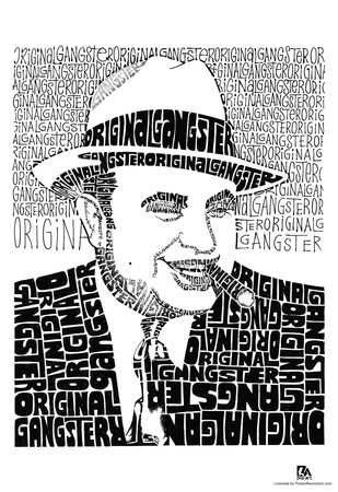 Al Capone on White Text Poster Prints