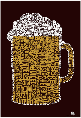 Beer Drinking Text Poster Poster