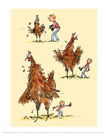 Georges Marvellous Medicine Prints by Quentin Blake